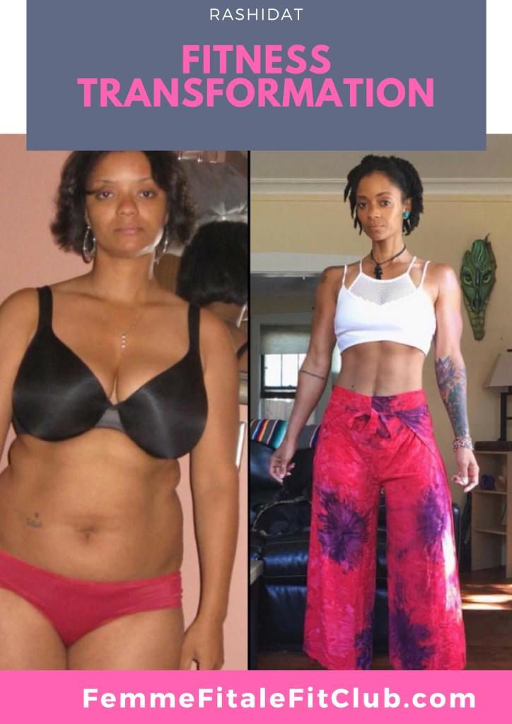 Rashidat IG_ @IAm_Rashidat Fitness Transformation #weightlossbeforeandafter #weightlosstransformation