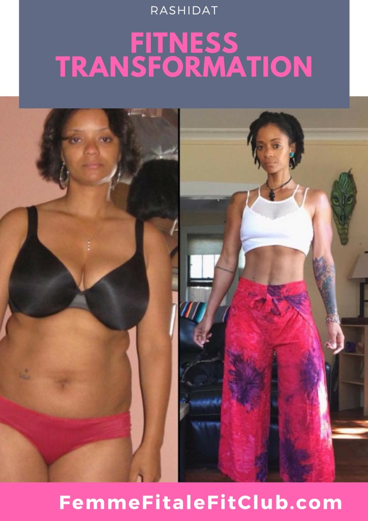 Rashidat IG_ @IAm_Rashidat Fitness Transformation #weightlossbeforeandafter #weightlosstransformation