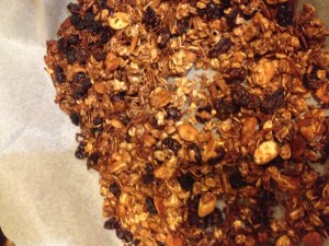 Let granola cool completely - Homemade granola