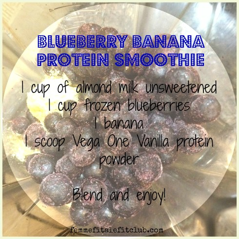 Blueberry banana protein smoothie