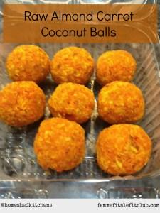 Raw Almond Carrot Coconut Balls