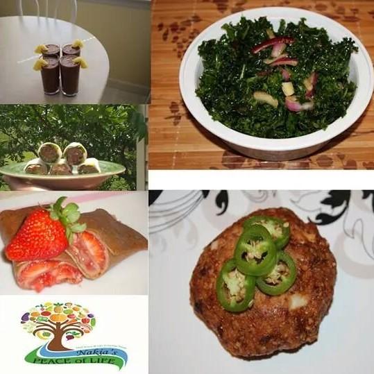 Sample of raw food and vegan diet