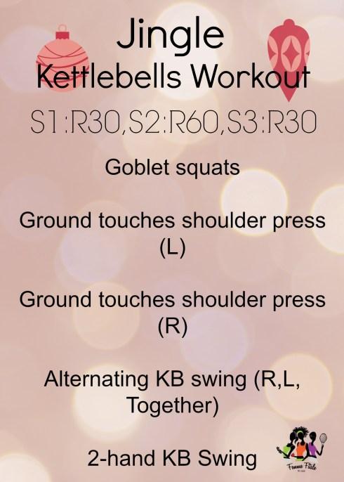 Jingle Kettlebell Workout #workout #fitfam #kettlebells