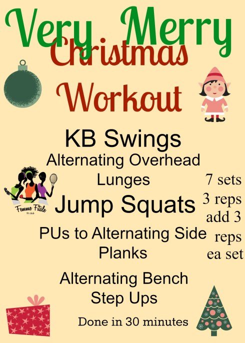 Very Merry Christmas Workout #christmas #workout #squats #planks