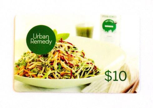 Urban Remedy $10 Gift Card