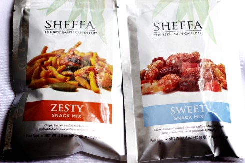 Sheffa Sweet Flavored Snack Mix and Zesty Flavored Snack Mix
