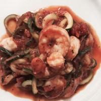 Meal Mondays:  Shrimp Zoodles Marinara