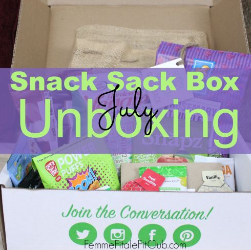 July Snack Sack Box Unboxing