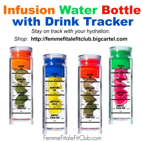 Infusion Water Bottle with Drink Tracker