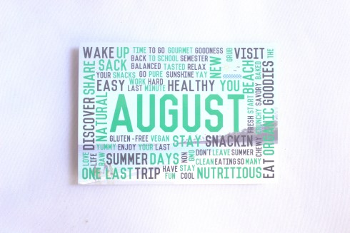 August Snack Sack Information Card
