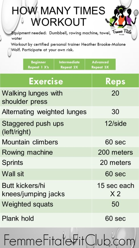 How Many Times Workout