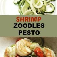 Meal Mondays:  Shrimp Zoodles Pesto