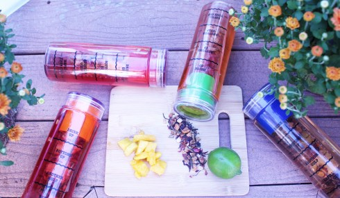 Infusion Water Bottles laying down