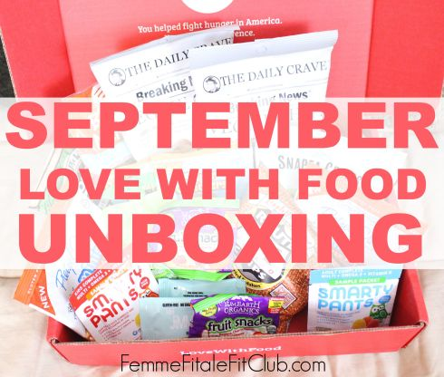 September Love With Food Unboxing