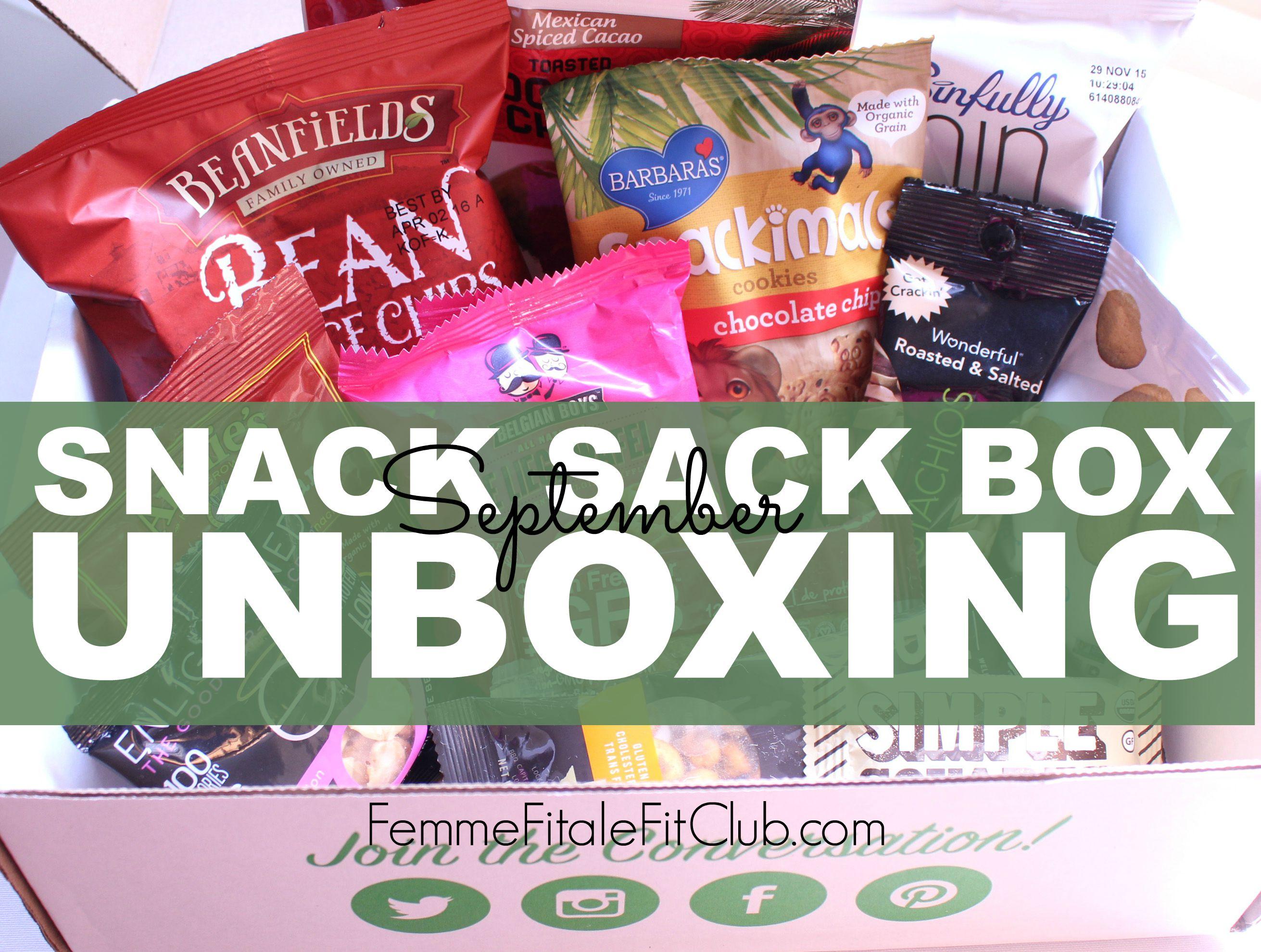 September Snack Sack Unboxing cover