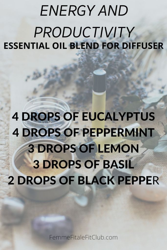 Improve your energy and productivity in the home or work office with this essential oil blend for the diffuser.  #essentialoilblend #essentialoils #energyessentialoilblend #productivityessentialoilblend