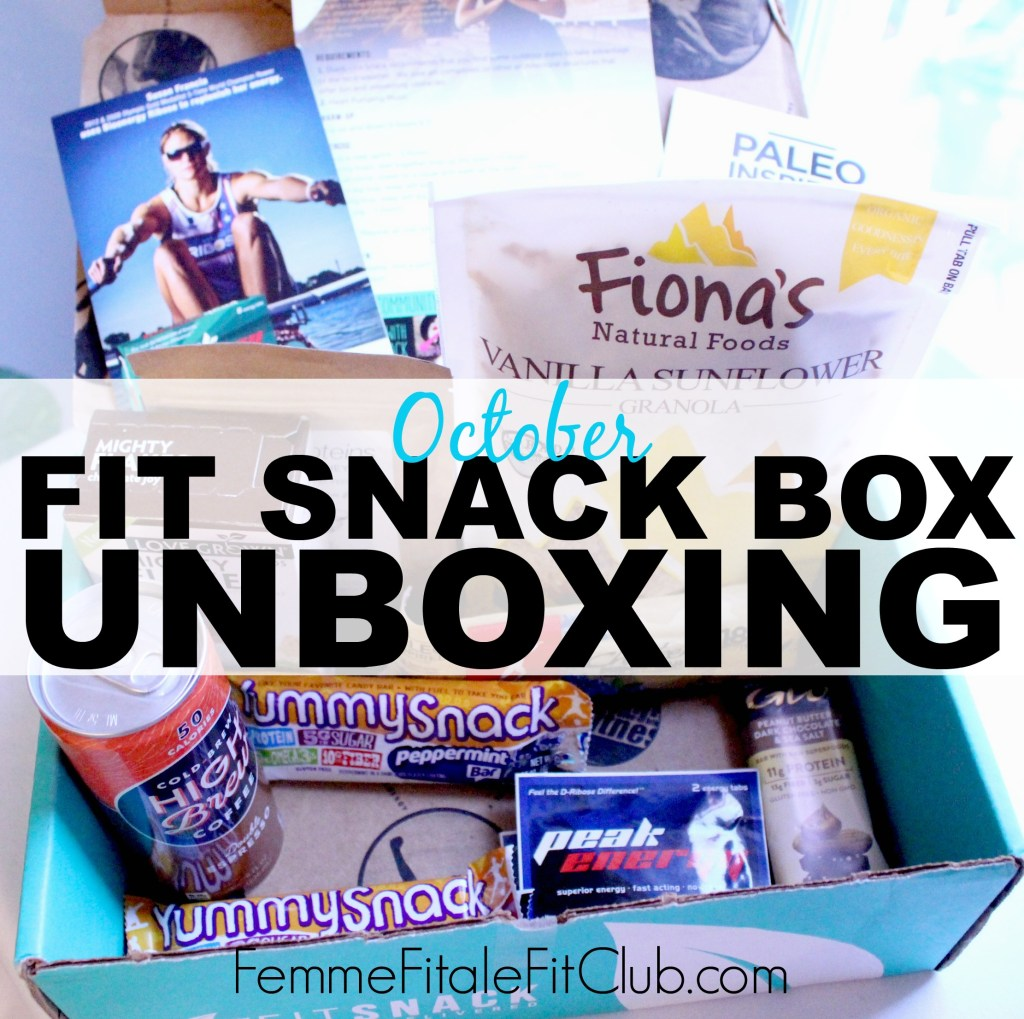 October Fit Snack Box Unboxing