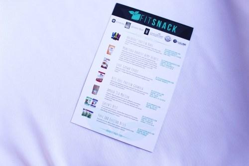 Fit Snack Information Sheet