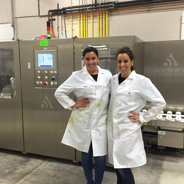 Serafin Juice sisters in a factory