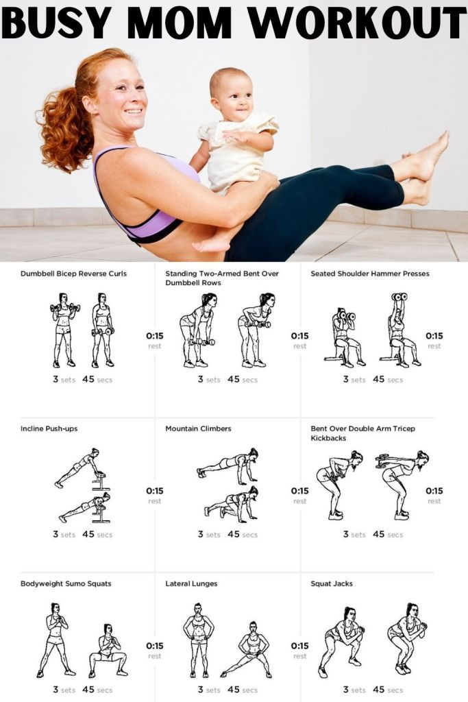 If you are a busy mom with career, chores and family and want to stay on top of your fitness and health, try this workout which can be completed in just under 30 minutes at home.  Minimal equipment needed.  #busymomworkout #busymom #parentworkout #mommyandmeworkout #mommyandme #newmom #newmomworkout #workoutforwomen #homeworkouts #athomegym #athomeworkout