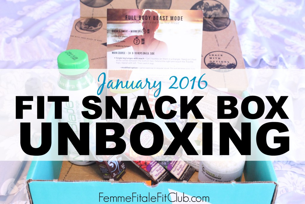 January Fit Snack Box Unboxing