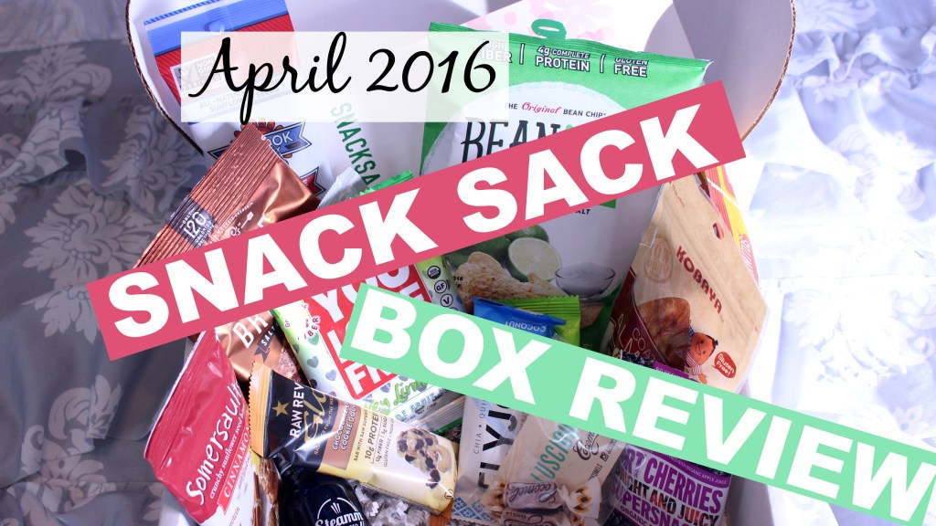April 2016 Snack Sack Unboxing