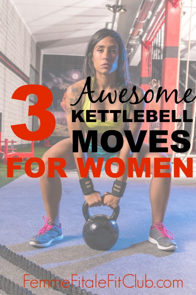 Check out the 3 kettlebell exercises for women that will take your body to the next level. #kettlebellworkout #kettlebell #kettlebells #weightloss