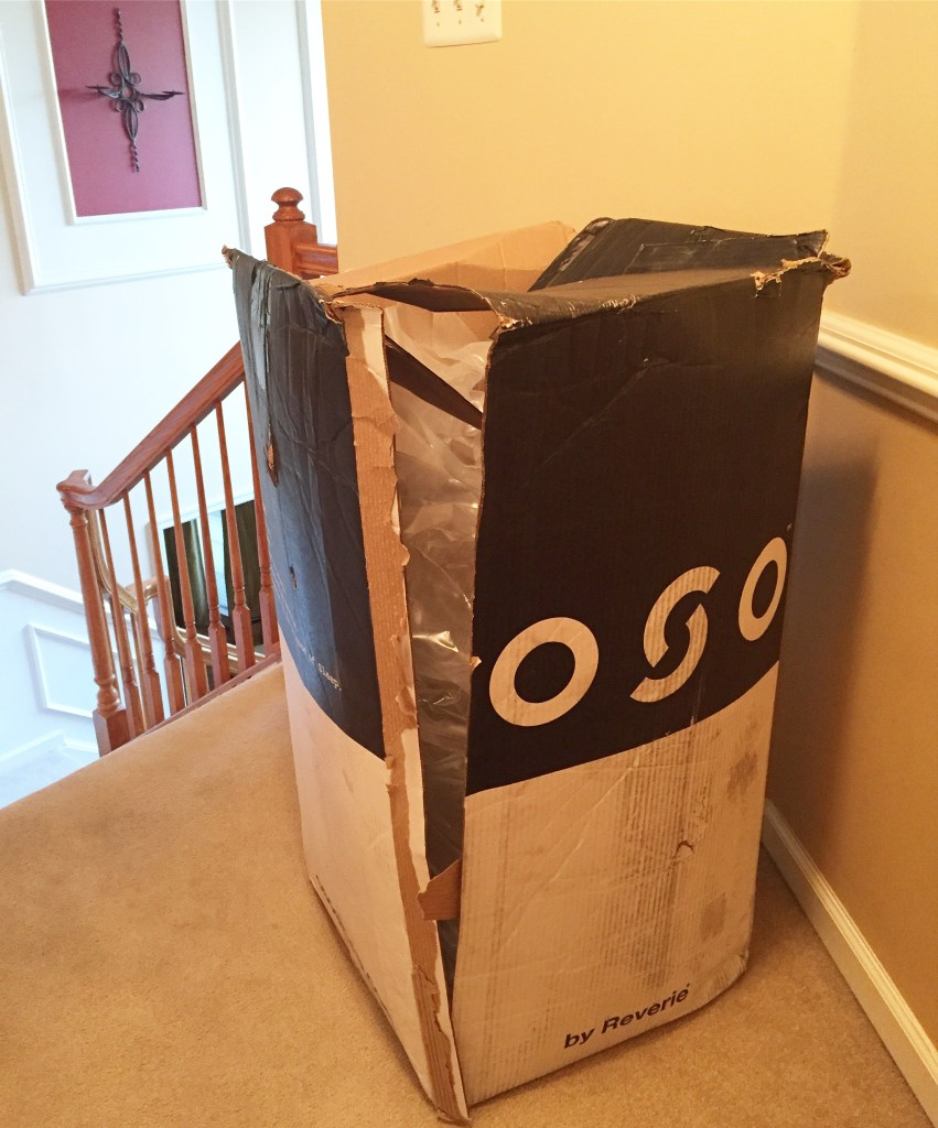 OSO Mattress cut out of box