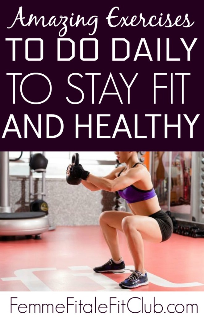 Amazing exercises to do daily to stay fit and healthy #exercises #workout #bodyweightexercises