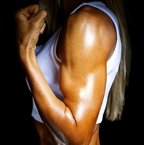 Strong female arm