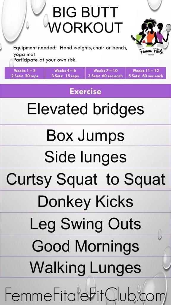 Big Butt Workout