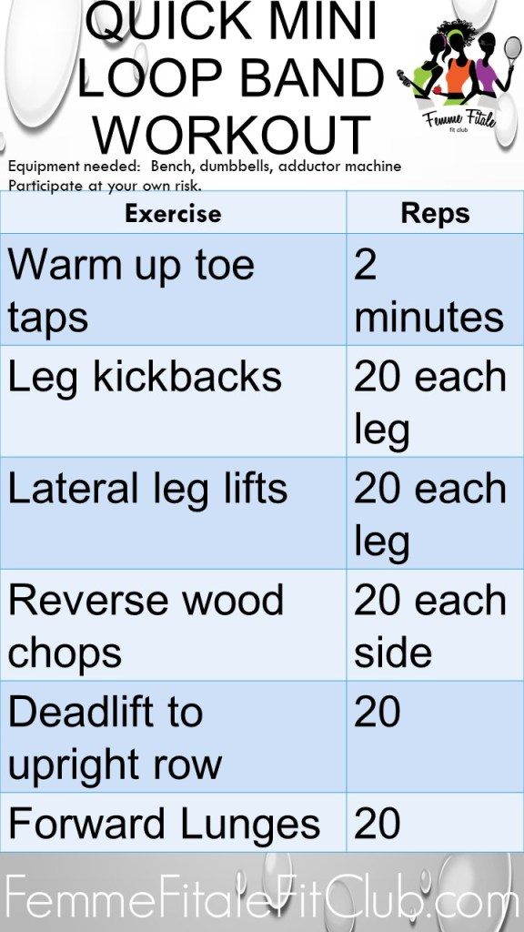 Quick Mini Loop Band Workout