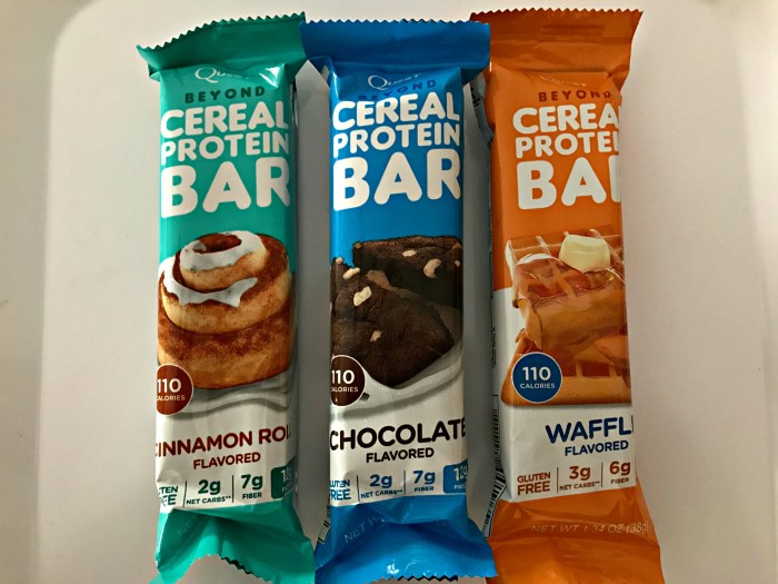 3 Quest Beyond Cereal Protein Bars