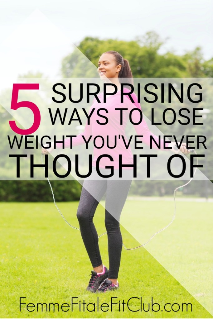 Get creative when it comes to weight loss and check out these 5 surprising ways to lose weight you've never thought of #weightloss #weightlosstips #weightlossforwomen