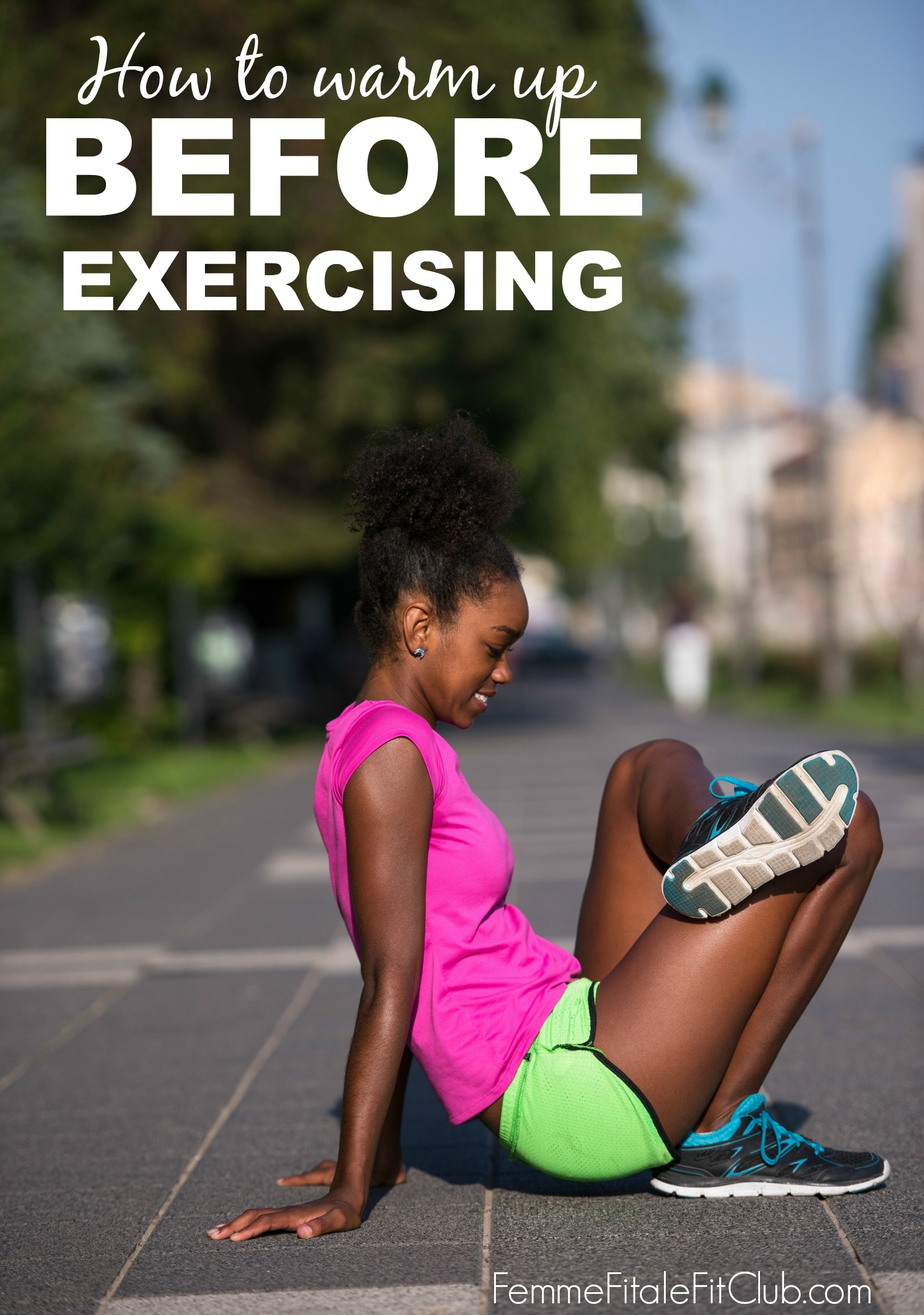 How to warm up before exercising