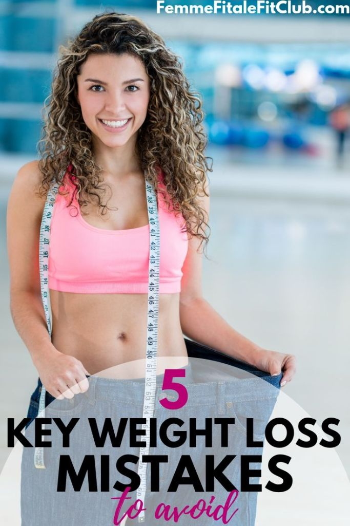 Avoid these 5 common weight loss mistakes in order to be successful on your fitness journey #weightloss #fatloss #weightlosstips #healthy #healthtips #exercise #howtoloseweight #avoidmistakes