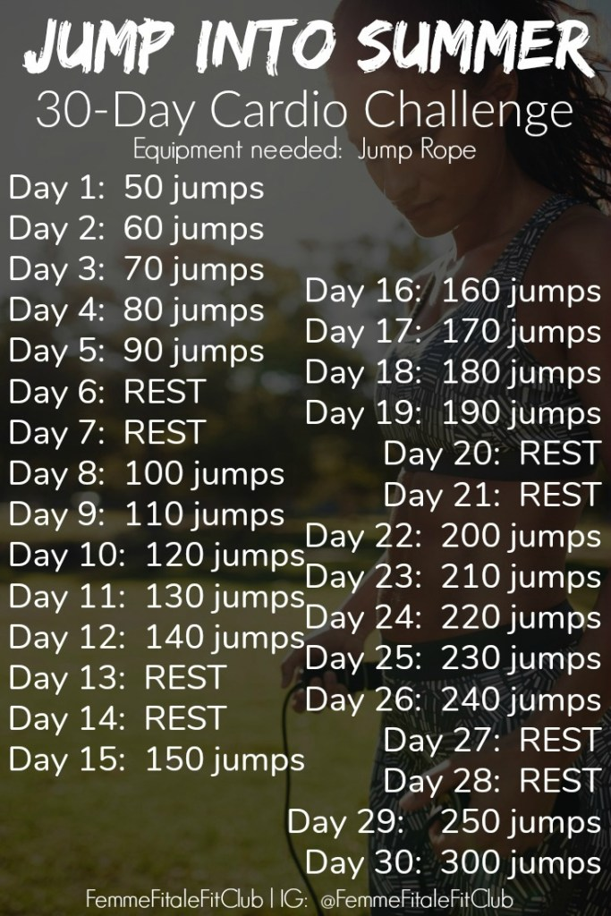 Bonus Jump Into Summer 30 Day Jump Rope Challenge