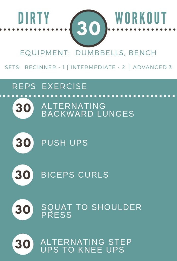 Dirty 30 Workout by Femme Fitale Fit Club #workout #totalbodyworkout #fullbodyworkout #athomeworkout