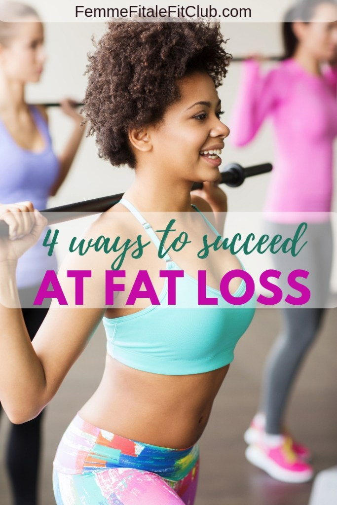 Smash your weight loss and fitness goals for good by following these 4 bone fide tips to succeed at fat loss this year and beyond. #fatloss #weightloss #newyearsresolution #fittip #fitnesstips #healthtips #exercise #workout #getfit #healthy #weightlossforwomen #womenshealth
