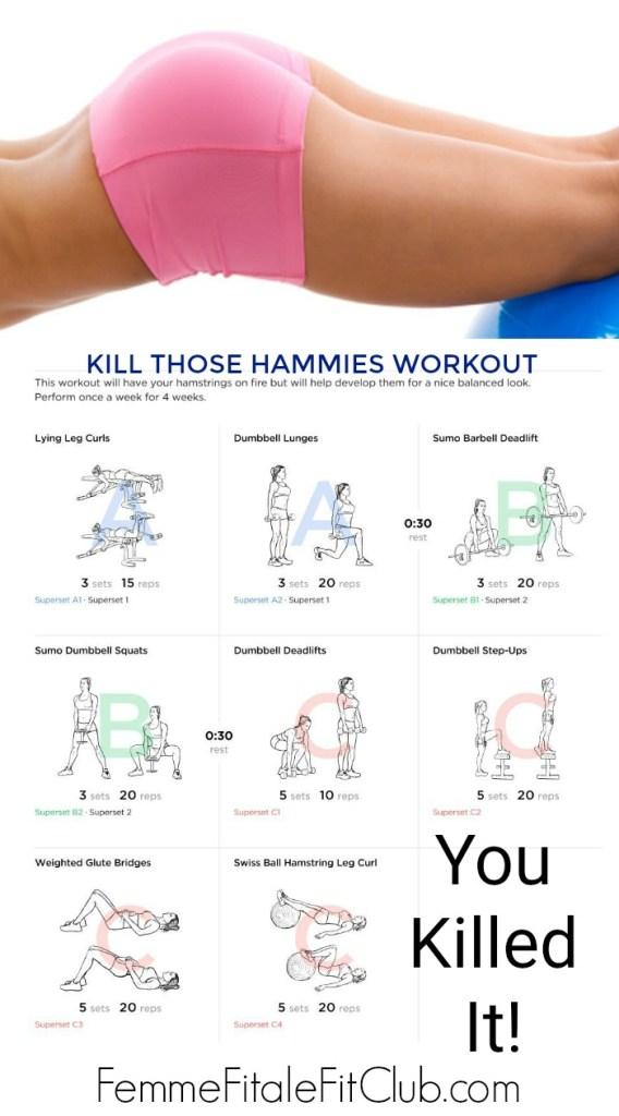 Kill Those Hammies Workout #hamstrings #legs #lowerbodyworkout #getfit #supersets #legday #legdayworkout #workout #fitness