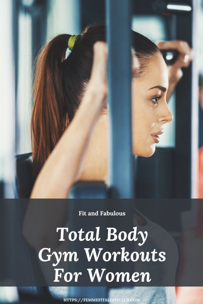If you want to tighten and tone try these total body gym workouts for women.  #cablemachine #fitness #exercise #gymworkouts #workoutatgym