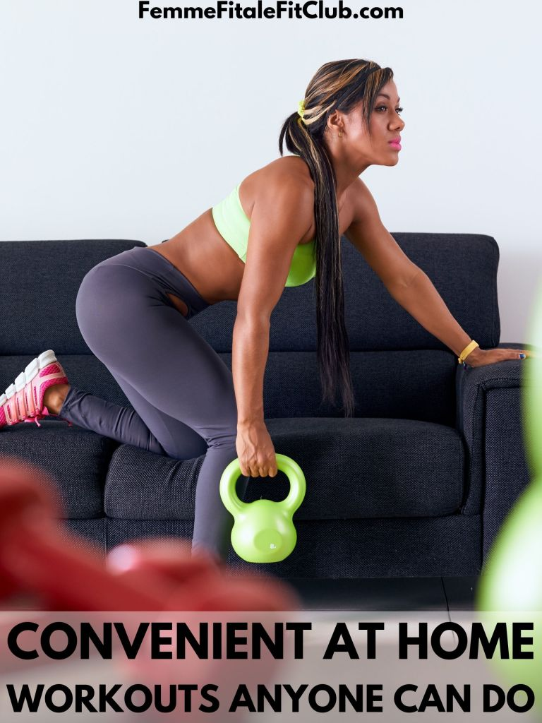 If you are short or time, just getting back to working out, or just getting started, these convenient exercises will show you the basics of workouts and get you started.  You won't need a gym membership for these. #athome #health #fitness #exercise #workouts #womenshealth
