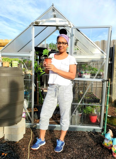 Meet Princess Cole and her garden.  Find out how gardening has helped her health and wellbeing. #blackgirlsgarden