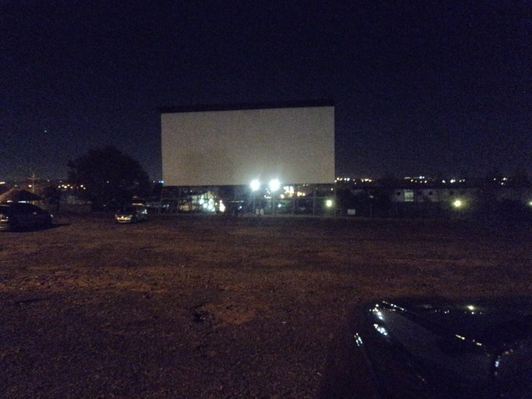 The empty drive-in