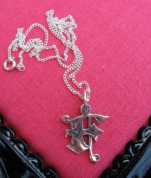 Love letter f charm necklace femme metale add to wishlist loading thecheapjerseys Choice Image