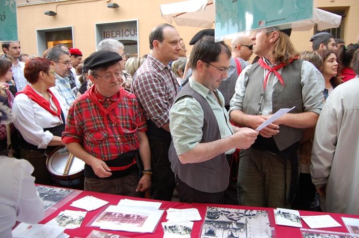 Rafael Català i Miquel Nieto(excaps dels Castellers de Terrassa)