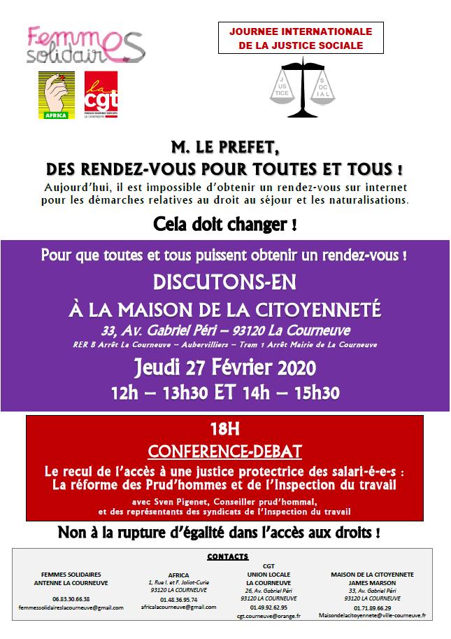 LA COURNEUVE – Réunion publique : M. LE PREFET, DES RENDEZ-VOUS POUR  TOUTES ET TOUS !