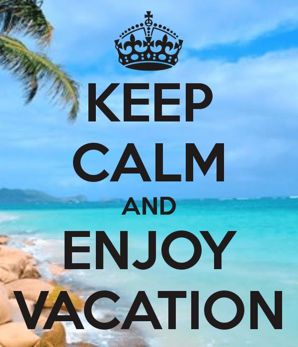 vacation keep calm