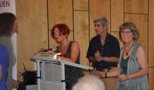 Autorin und Vorleserin Hedi Schulitz, Horst Koch(Ehemann) und Fotografin der GEDOK, Anna Maria Letsch