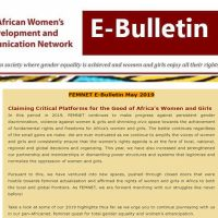 Claiming Critical Platforms for the Good of Africa's Women and Girls – FEMNET May 2019 E-Bulletin